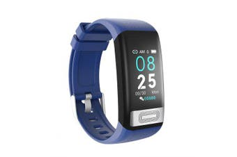 Smart Wristband Blood Pressure Heart Rate Detection Ip67 Waterproof Sports Smart Watches- Blue China