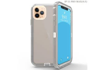 L8 transparent phone case for color transparent shell of IPHONE 11 PORMAX- gray