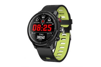 Smart Watch Large Screen Full Touch With Lighting Heart Rate Sports Watch- Green China
