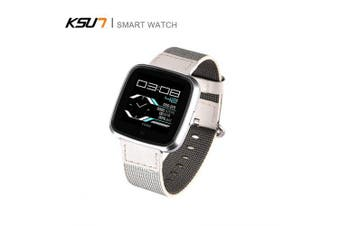 KSUN KSS703 Smart Watch Calorie Pedometer Heart Rate Monitor IP67 Life Sport Watch for IOS Android- Gray
