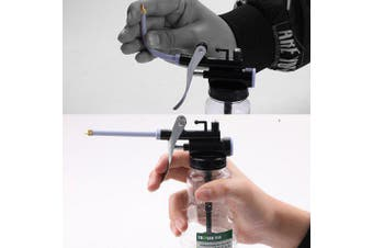 250ML High Pressure Plastic Injection Tube Oil Gun- Black