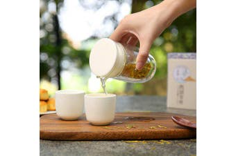 Japanese Style Portable Kung Fu Tea Set Simple Outdoor Travel Glass Drinking Utensil- White