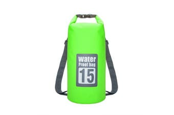 15L Waterproof Dry Bag Sack Storage Pack Pouch Swimming Kayaking Canoeing River Trekking Fishing- Green