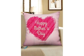 Mother's Day Gift Heart Pattern Pillow Case- Light Pink W18 inch * L18 inch