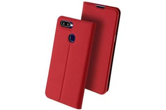 Multi-function Fashion Leather Cover Phone Case for OPPO F9 Pro- Valentine Red