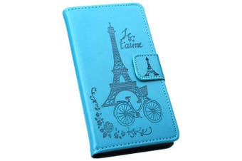 Flip Full Covered Phone Case for Nokia 5.1- Deep Sky Blue