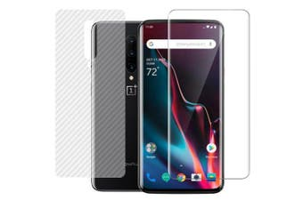 CHUMDIY 3D Curved Full Screen Soft Film + Back Film for OnePlus 7 Pro- Transparent