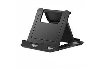 Square Foldable Plastic Phone Holder- Black