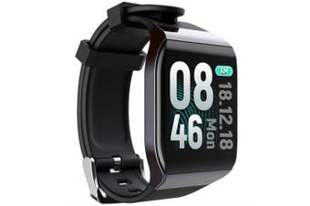 Watch Smart Watch Waterproof Smartwatch Man Women Watches Smart Watch Men Connected Smart Clock- Black