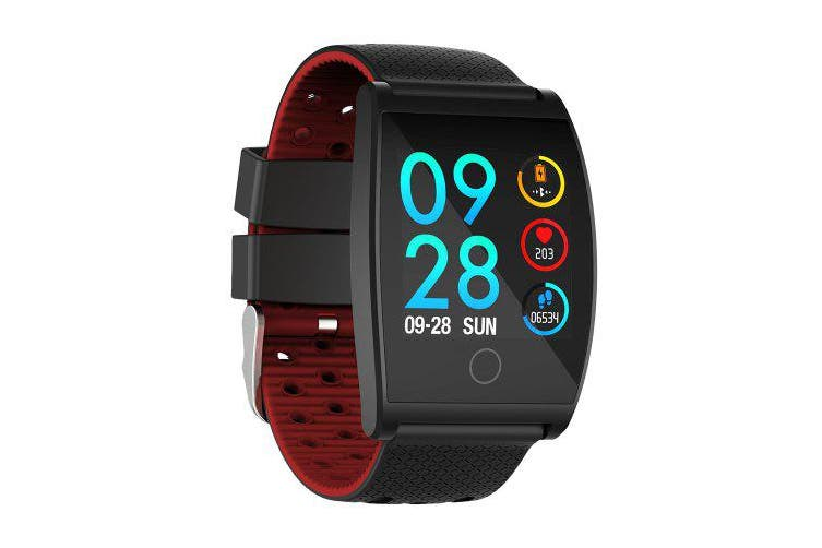 QS05 Wristband SmartWatch With Blood Pressure Blood Oxygen Heart Rate Monitor Sports Activity- Gray