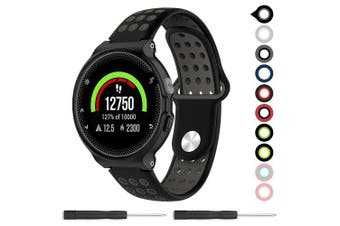 Silicone Sports Band Strap For Garmin Approach S6/Approach S20/Approach S5- Black