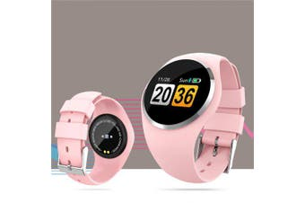 Fashion Color Screen Smart Watch Long Standby Heart Rate Blood Pressure Sleep Monitoring Women Watch- Pink China