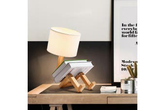 Living Room Study Bedroom Simple Modern Personality Wood Table Lamp- Peach Regular