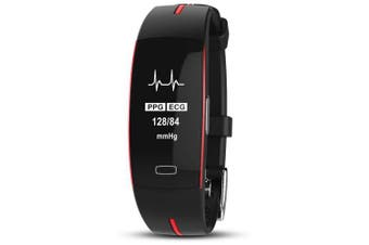 Star 49 Women and Men's Watch Fitness Tracker Smart Braclete BandReal Time- Red