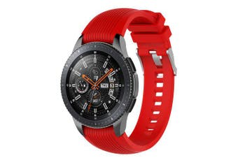 22MM Silicone Bracelet Strap Watch Band For Samsung Gear S3 Frontier/Classic- Red