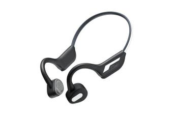 Bilikay J31 Latest Wireless Bone Conduction Headset Bluetooth 5.0 Binaural Stereo Headphones Waterproof Sports Night Running Reflective Bluetooth Headset- Graphite Black