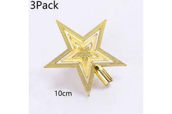 3Pack Christmas Tree Topstar For Table Top Ornament Christmas Lovely Shiny Xmas Decorative- 10cm