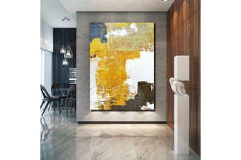 QINGYAZI HQS19112 Hand-painted Abstract Oil Painting Home Wall Art Frameless Paint- Multi-A 24 x 36 inch (60cm x 90cm)