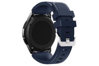 22mm Soft Silicone Strap Band for Samsung Gear S3 Watch- Deep Blue