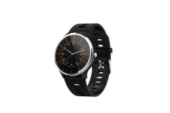 A9 smart bracelet with heart rate monitor ECG PPG blood pressure smart watch- Black