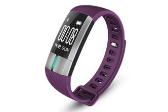 Smart Watch Monitor ECG Blood Pressure Heart Rate Watches Fitness Activity Tracker Bracelet- Purple China