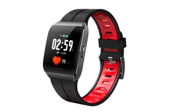 X1 Multi-function Smart Watch Large Screen Square Dial IP68 Waterpoof Watches- Red China