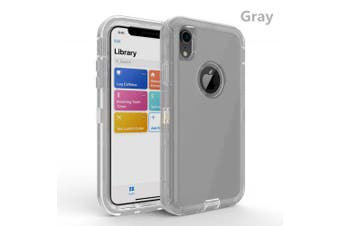 L8 transparent phone case for color transparent shell of IPHONE XR- gray