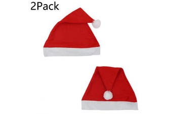 Christmas Day Thick Upscale Christmas Hat festival Short Plush Thick and thin Christmas Hat- Thin