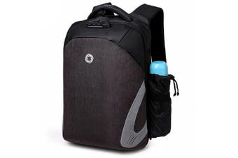 OZUKO Anti-theft Backpack with USB Charging Port- Gray Wolf