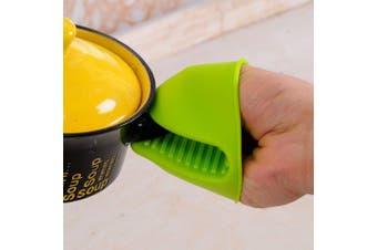 Silicone Heat-resistant Clip Mitt- Green