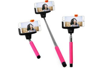 Kjstar Z07 - 5 Wi - Fi Selfie Rotary Extendable HandheldiPhone Monopod IOS4.0 and Above System- Rose Madder