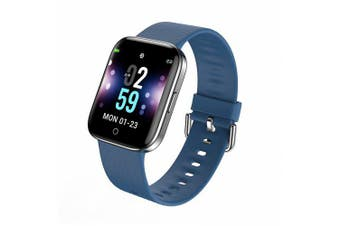Smart Watch Square Color Screen Bracelet 1.3 Inch Heart Rate Monitoring Smart Watches- Blue China