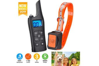Pet Dog Waterproof Training Collar Rechargeable Electric Shock LCD Display 800m- EU Plug China