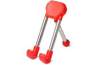 Fashionable Desktop Phone Stand Holder with Adjustable Design- Red
