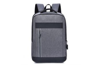 Creative Fashion Men Anti-theft Backpack with USB Charging Port- Gray