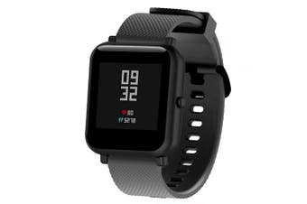 Silicone Replaceable Watch Band Wrist Strap for Xiaomi Huami Amazfit Bip Youth- Black
