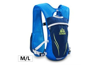AONIJIE E885 Hydration Backpack Rucksack Bag Vest Harness Running Marathon Race Sport- ML Blue China