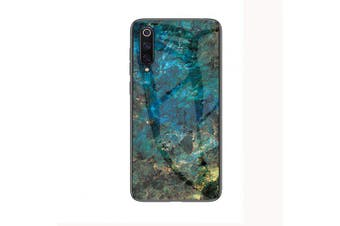 LEEHUR Marbled Glass Case for Xiaomi 9- Green