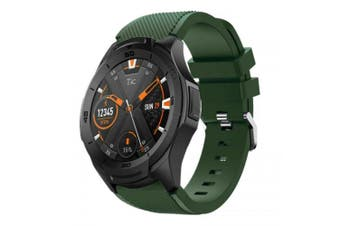 Silicone Watch Band Wrist Strap for Ticwatch Pro / Ticwatch S2 / Ticwatch E2- Army Green