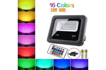 Outdoor LED Flood Lights RGB Color Changing Waterproof Security Wall Projection Lamp Color Change- AU PLUG