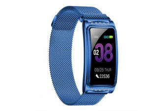 Smart Watch Heart Rate Monitor Blood Pressure Oxygen Reminder Bracelet for Lady Girl- blue China