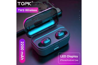 TOPK F25 TWS Wireless headphones Bluetooth 5.0 Earphone HD Stereo Noise Cancelling Gaming Headset- Without LED display China
