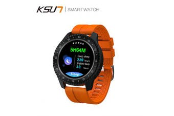 KSUN KSR722 Bluetooth Smart Watch Heart Rate Monitor Sport Fitness Tracker Blood Pressure Watch- Orange