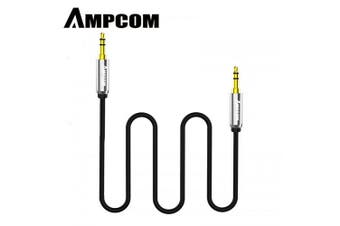 AMPCOM Pro Serie AUX 3.5mm Male to Male Audio Cable Stereo Audio Pure Copper Gold Plated- 1m Silver China