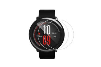 2PCS 0.26mm Tempered Glass Screen Protector for Xiaomi Huami Amazfit Smart watch- Transparent