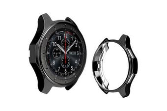 Plating TPU Protective Case for Samsung Gear S3 Watch- Black