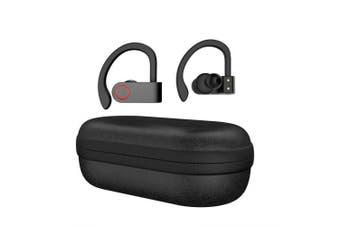 A9 Bluetooth Wireless Headset Sports Ear Hook Running Noise Cancelling Stereo Bluetooth Earphone- Black