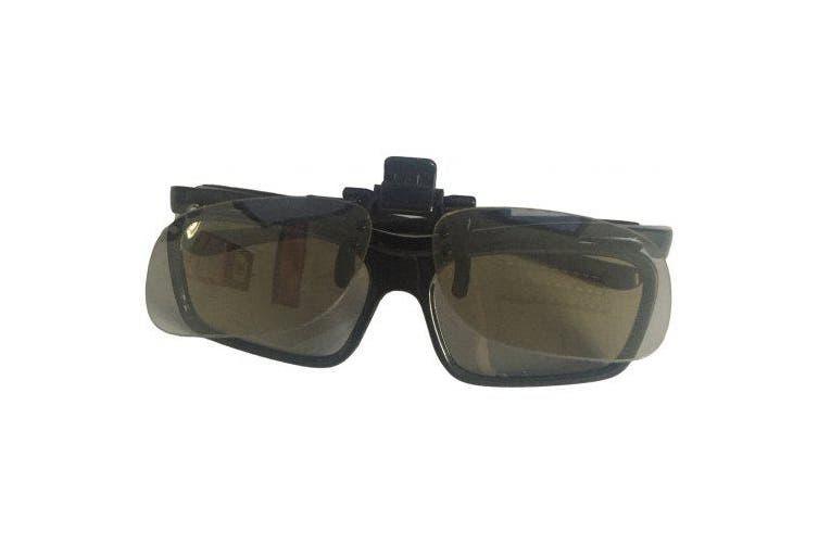 Passive Circular Polarized Clip On 3D Glasses for LG SONY TV MasterImage Disney Digital RealD Cinemas- Black