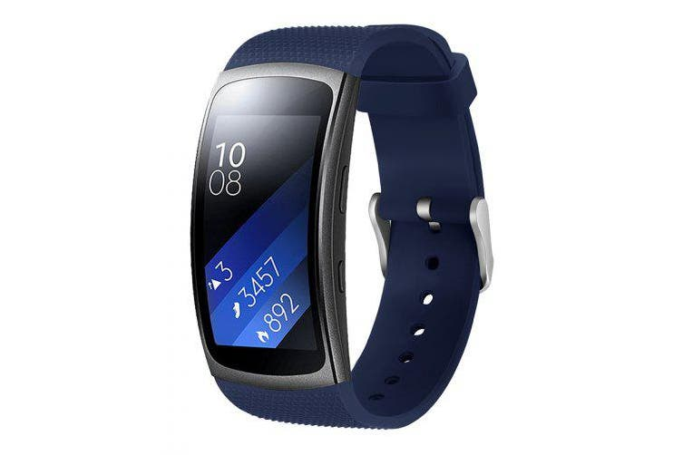 Watch Replacement Silicone Sport WristBand Strap For Samsung Gear Fit 2 Pro- Midnight Blue