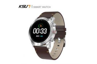 KSUN KSR903 Cheap Bluetooth Android IOS Phones Waterproof Touch Screen Sport Health Smart Watch- Brown